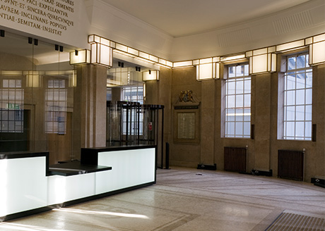 BBC Broadcasting House, Portland Place, London Architect: G. Val Myer, MacCormac Jamieson Prichard Consulting engineer: Faber Maunsell Lighting Consultant: Eric Maddock, EML Photographer: Andy Weller/VIEW